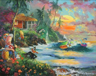 "James Coleman Centennial Tribute to Chuck Jones Limited Edition Canvas Giclee:""Paradise Season"""