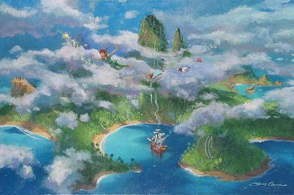 """James Coleman Handsigned and Numbered Limited Edition Canvas:""""First Look at Neverland """""""