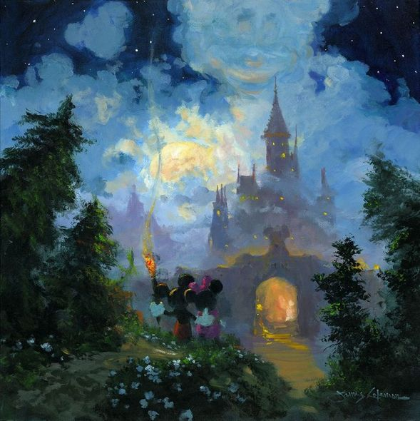 "James Coleman Handsigned and Numbered Limited Edition Giclee on Canvas:""Adventure to the Castle Gates"""