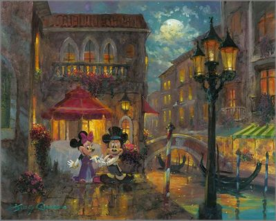 """James Coleman Handsigned and Numbered Limited Edition Giclee on Canvas:""""Evening Anniversary"""""""