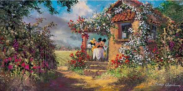 "James Coleman Handsigned and Numbered Limited Edition Giclee on Canvas:""Our Old Familiar Place"""