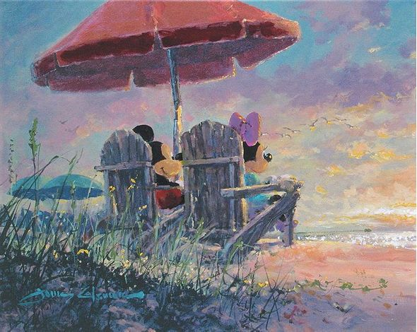 "James Coleman Handsigned and Numbered Limited Edition Giclee on Canvas:""Our Sunset"""
