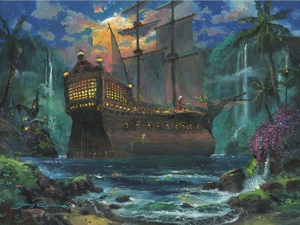 """James Coleman Handsigned and Numbered Limited Edition Giclee on Canvas:""""The Duel"""""""