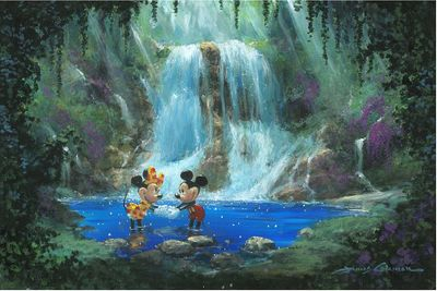 """James Coleman Handsigned & Numbered Limited Edition Giclee on Canvas: """"Love in the Rainforest"""""""
