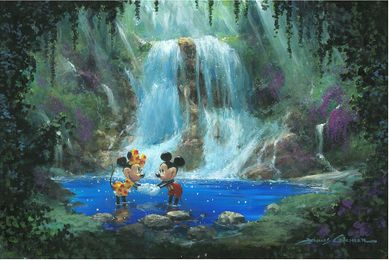 "James Coleman Handsigned & Numbered Limited Edition Giclee on Canvas: ""Love in the Rainforest"""