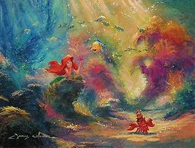 """James Coleman Handsigned & Numbered Limited Edition Giclee on Canvas:"""" The Little Mermaid - Dreaming"""""""