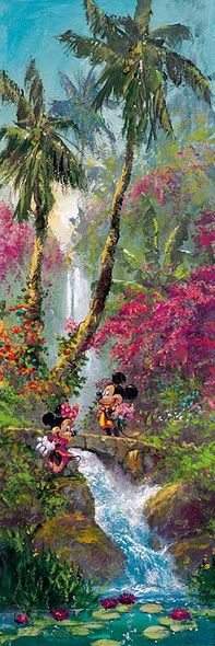 """James Coleman Handsigned & Numbered Limited Edition Hand Embellished Canvas Giclee: """"Island Afternoon (Mickey Mouse)"""""""