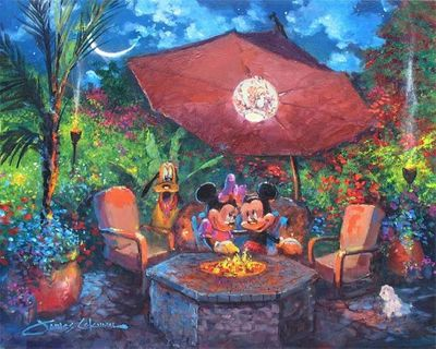 """James Coleman Signed and Numbered Giclée on Canvas Hand-Embellished with Painted Accents: """"Coleman's Paradise"""""""