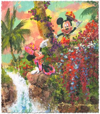 """James Coleman Signed and Numbered Limited Edition Hand Deckled Giclée on Paper:""""Colorful Island"""""""