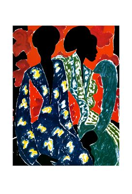 "James Denmark Limited Edition Signed Giclee Ed. 250:""Two Women"""