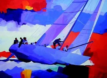 "James Dewitt Hand Signed and Numbered Limited Edition: ""Formula I Yacht Racing"""