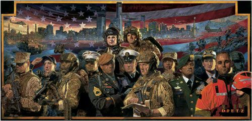 """James Dietz Hand-signed and Numbered Limited Edition Print:""""Mission Complete - Mission Ready"""""""