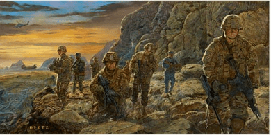 "James Dietz Hand Signed and Numbered Limited Edition Print:""Mountain Warriors"""