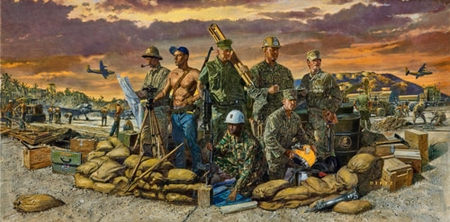 """James Dietz Hand Signed and Numbered Limited Edition Print:""""We Build, We Fight"""""""