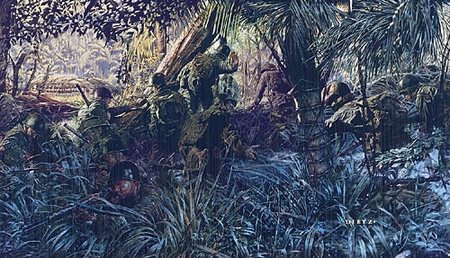 "James Dietz Handsigned and Numbered Limited Edition Artist Proof Print:""Jungleers"""