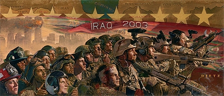 "James Dietz Handsigned and Numbered Limited Edition Artist Proof Print: ""Ten Years Later, The Fight Continues..."""