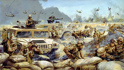 """James Dietz Handsigned and Numbered Limited Edition Artist Proof Print:""""The Lightning of Desert Storm"""""""