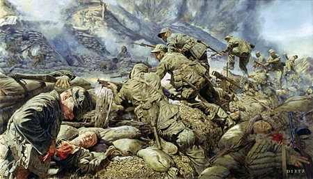 """James Dietz Handsigned and Numbered Limited Edition Print:""""At The Cutting Edge Of Battle"""""""