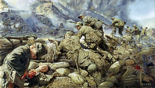"James Dietz Handsigned and Numbered Limited Edition Print:""At The Cutting Edge Of Battle"""