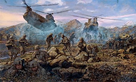 """James Dietz Handsigned and Numbered Limited Edition Print: """"By Force And Valor"""""""