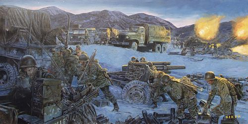 """James Dietz Handsigned and Numbered Limited Edition Print:""""Chosin Fires"""""""
