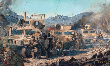 "James Dietz Handsigned and Numbered Limited Edition Print:""Counter Attack"""