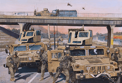 """James Dietz Handsigned and Numbered Limited Edition Print:""""Highway To Freedom"""""""