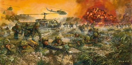 """James Dietz Hand Signed and Numbered Limited Edition Print:""""We Live to Honor Them - 50th anniversary of the Vietnam War"""""""