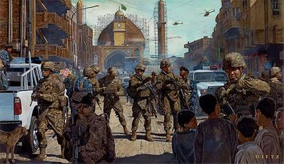 """James Dietz Handsigned and Numbered Limited Edition Print: """"Lions of Salah ad Din"""""""