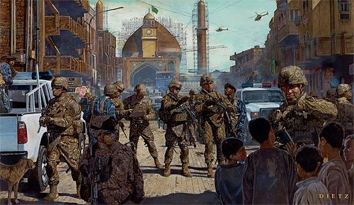 "James Dietz Handsigned and Numbered Limited Edition Print: ""Lions of Salah ad Din"""