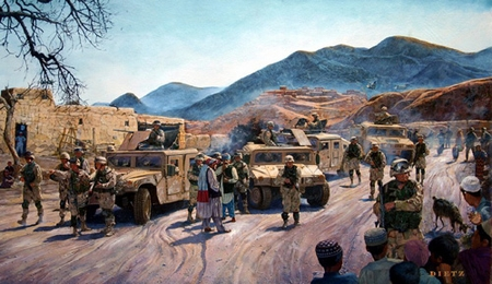 """James Dietz Handsigned and Numbered Limited Edition Print:""""On Patrol"""""""