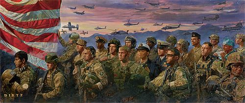 "James Dietz Handsigned and Numbered Limited Edition Print: "" Remembrance """
