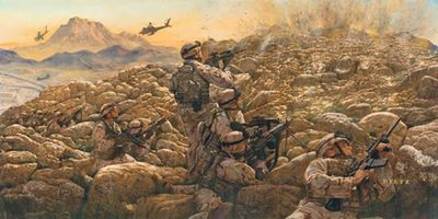 "James Dietz Handsigned and Numbered Limited Edition Print:""Sky Soldiers in Contact"""