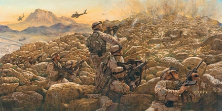 """James Dietz Handsigned and Numbered Limited Edition  Print:""""Sky Soldiers in Contact"""""""