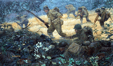 """James Dietz Handsigned and Numbered Limited Edition Print:""""Spearhead of the Attack"""""""