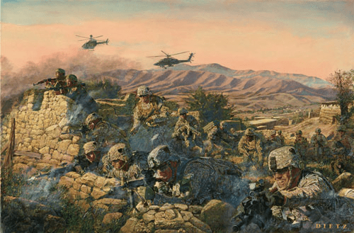 """James Dietz Handsigned and Numbered Limited Edition Print:""""Strike Into The Heart Of The Taliban"""""""