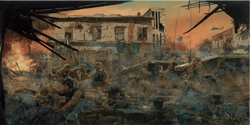 """James Dietz Handsigned and Numbered Limited Edition Print:""""Task Force Ranger - The Battle of Black Hawk Down"""""""