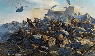 "James Dietz Handsigned and Numbered Limited Edition Print: ""The Rock Returns (Afghanistan)"""