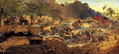 "James Dietz Limited Edition Artist Proof Print:""The Rock of the Marne -Tigris and Euphrates"""