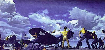 """James Dietz Pilot Signed and Numbered Limited Edition Print:""""Best on Deck"""""""