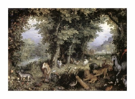 "Jan Bruegel Fine Art Open Edition Giclée:""Land of Paradise"""