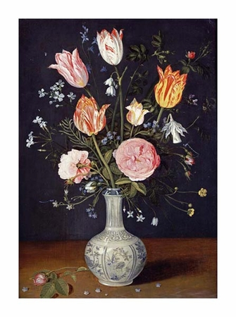 """Jan Brueghel Fine Art Open Edition Giclée:""""Tulips, Roses, Forget-Me-Nots and Other Flowers"""""""