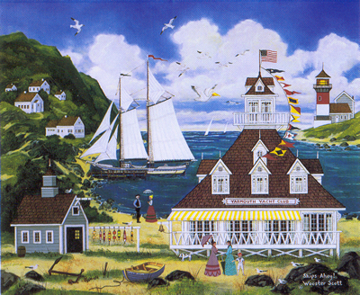 """Jane Wooster Scott Hand Signed and Numbered Limited Edition Lithograph:""""Ships Ahoy!"""""""