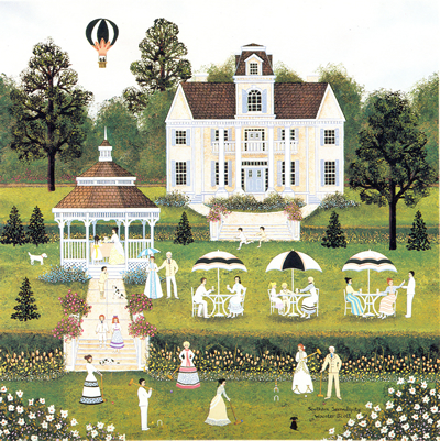 """Jane Wooster Scott Hand Signed and Numbered Limited Edition Lithograph:""""Southern Serendipity"""""""