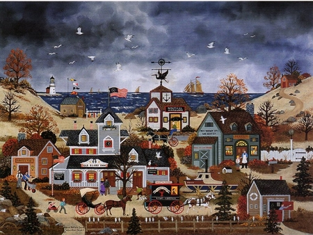 """Jane Wooster Scott Hand Signed and Numbered Limited Edition Print: """"Home Before Dark"""""""