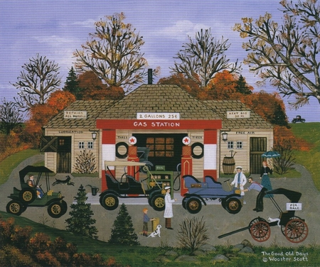 """Jane Wooster Scott Hand Signed and Numbered Limited Edition Print: """"The Good Old Days """""""