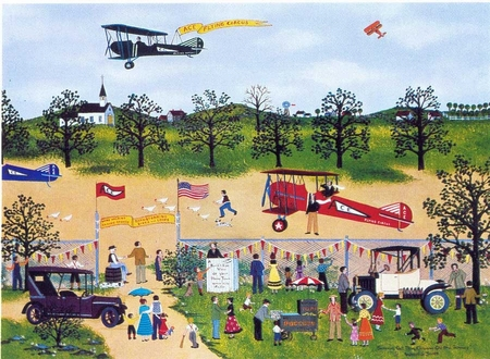 "Jane Wooster Scott Handsigned and Numbered Limited Edition Serigraph on Paper:""SOMEONE GET THOSE CHICKENS OFF THE RUNWAY!"""