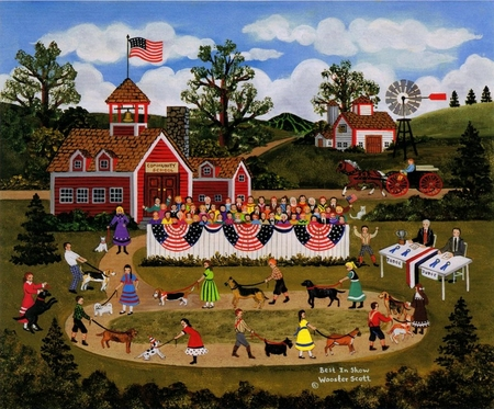 """Jane Wooster Scott Handsigned and Numbered Limited Print: """"Best In Show"""""""