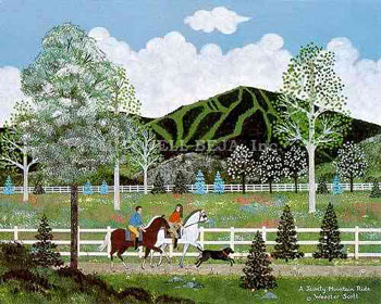 "Jane Wooster Scott Limited Edition Print:""A Jaunty Mountain Ride"""