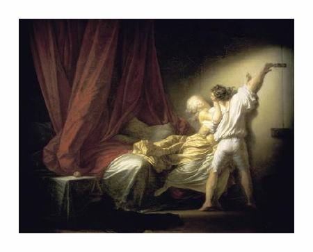 "Jean Honore Fragonard Fine Art Open Edition Giclée:""Lock Le Verrou"""